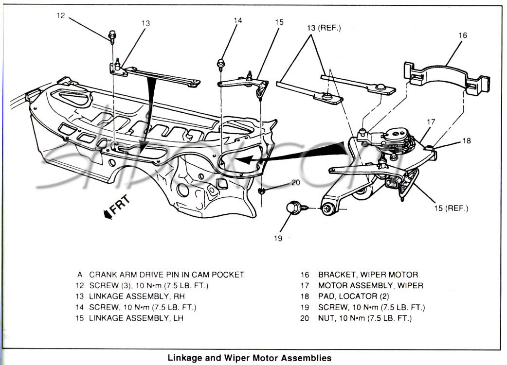 Wiper Motor on Dodge Transfer Case Exploded Diagram